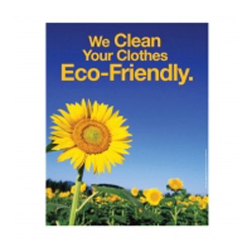 "Poster - WE CLEAN ECO FRIENDLY 22"" x 28"" - LAMINATED"