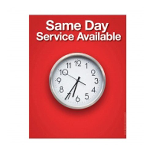 "Poster - SAME DAY SERVICE 22"" x 28"" - LAMINATED"