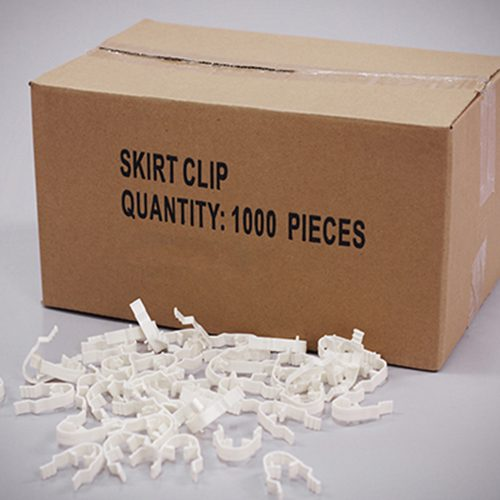 Skirt Clips - Plastic WHITE (1000)