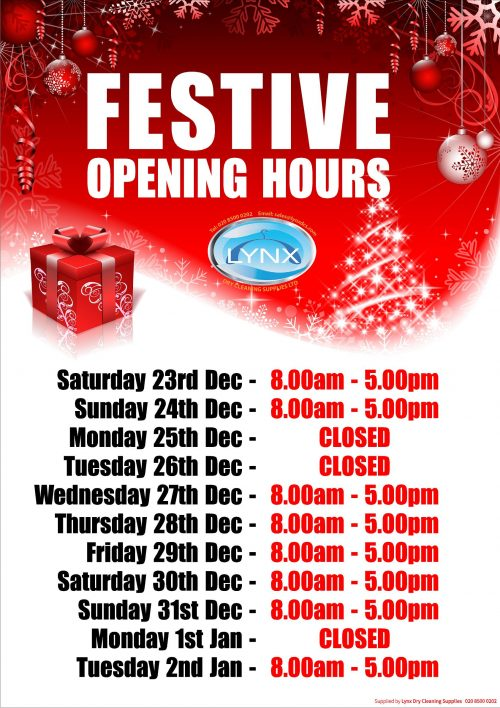 Personalised Christmas Opening Hours Poster